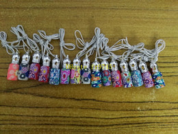 Wholesale Roller Clay - 100pcs lot Free Shipping 3ML Polymer clay perfume bottles 3CC Empty Roller ball bottle Car Pendant