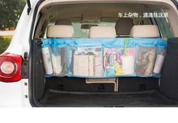 Wholesale Tissue Box Holder Organizer - 100pcs Car Back Seat Organizer Storage Bag Kick Mat Protector Tissue Box Travel Holder Pouch Hanger Accessories #HC57