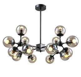 Wholesale Head Lamp Shop - Magic Bean Led Pendant Lights Living Dining Room Shop Moderb Glass Ball Pendant Lamp Lighting Fixtures 4 8 12 16 Heads LLFA
