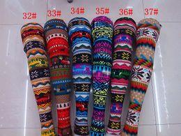 Wholesale Acrylic Snowflakes - Women's Leggings 50pc Snowflake Christmas deer Legging Graffiti Printed Leggings cashmere knit cotton pants spring 2016 J81 v81