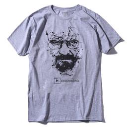 Wholesale Walter White Shirt - Walter White Tops Cotton O-Neck Heisenberg Men T-shirt Short Sleeve Casual Breaking Bad Print T Shirt For Men
