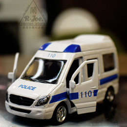 Wholesale Flash Families - 1:64 Alloy car model Police car series 110 ambulance Back to the car Children like the gift Family Decoration Collection
