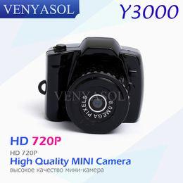 Wholesale Hidden Miniature Camera - Wholesale- VENYASOL Y3000 720P Portable Mini Camera DV DVR Video HD Micro Digital Recorder Camcorder Hidden Small Sport SPY Miniature