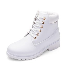 Wholesale Low Heel Boots For Women - autumn winter women ankle boots new fashion woman snow boots for girls ladies work shoes plus size 36-41