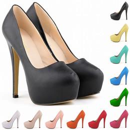 Wholesale White Platform Heels Size 11 - Calzado Mujer GIRLS WOMEN PLATFORM PUMPS HIGH HEELS STILETTO COURT SHOES SIZE US 4 5 6 7 8 9 10 11 D0034