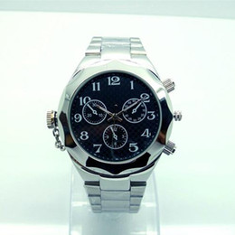 Wholesale Spy Stainless Watches - Stainless Steel Waterproof Man Watch Spy Camera With Detachable Battery And Memory Card Design