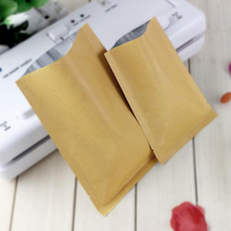 Wholesale Al Plastic - Gift Bags free Shipping 200pcs lot 8 Sizes Open Top Flat Kraft Paper Al Foil Laminated Heat Sealed Bag Vacuum Pouches Food Packaging Bags