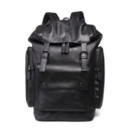 Wholesale Ladies Sport Backpack - Brand Designers Men Women Travel Backpack Fashion PU Leather College Student School Bags Vintage Ladies Rucksack Outdoor sports Laptop Bag