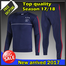Wholesale Men Suits Blue - Top quality 2017 2018 Ajax tracksuits 17 18 Ajax training suits free shipping