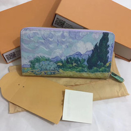 Wholesale Paint Products - New 2017 latest luxury products female bag A landscape painting of Mr. Gao a famous Dutch painter wallet