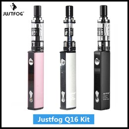 Deutschland Original Justfog Q16 Kit 900mAh E Zigarette Vape Pen Starter Kit Bottom Charging mit 2ml Q16 Clearomizer 1,6 Ohm OCC Spule Versorgung