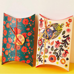 Wholesale Packaging Supplies Cookie Box - Flower Pillow Gift Box Packaging for Cookie Chocolate Box Wedding Candy Boxes Xmas Party Supplies Free Shippng ZA4116