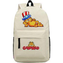Wholesale garfield cartoon - Lazy pet backpack Garfield cat daypack High hat schoolbag Cartoon rucksack Sport school bag Outdoor day pack