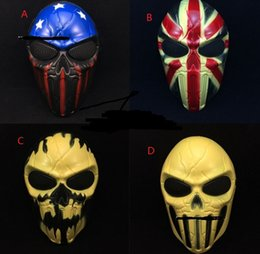Wholesale Ghosts Games - Easter Halloween Party Full Face Skull Skeleton Wargame CS GAME Ghost Masks Fancy Dress Cosplay performance props festive supplies gift