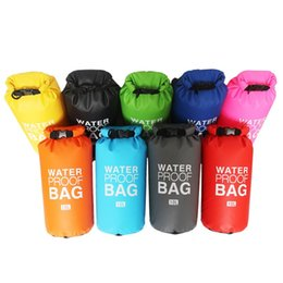 Wholesale Dry Bag 2l - 2L 5L 10L 15L 20L NEW Portable Ultralight Outdoor Travel Rafting Waterproof Dry Bag Swimming 9 color Free Shipping
