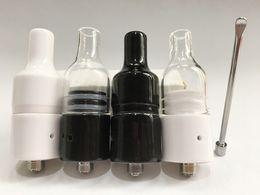 Wholesale Ego Original Atomizer - Original Glass ceramic wax atomizer tank vaporizer kit fast heating with ceramic coil for Ego Evod Electronic Cigarette
