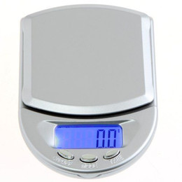 Wholesale Diamond Weighing Scales - Digital Diamond Scales Mini LCD Pocket Jewelry Weighing scale Gold Gram 500g 0.1g 100g 0.01 200g 0.01 in STOCK A04