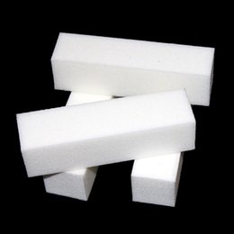Wholesale White Nail Art Buffer Buffing - 10 Pcs Lot Nail Art Buffer File Block Pedicure Manicure Buffing Sanding Polish White Makeup Beauty Tools 0603065