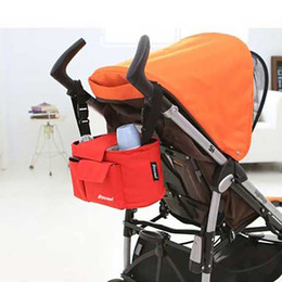 Wholesale Cheap Diapers Wholesale - Wholesale- baby stroller bag for baby organizer cheap mother stroller nappy diaper bags tote basket storage shop trolley nursing red green