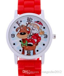Wholesale Cheap Watches For Children - newest japan quartz multi colors silicone rubber band cheap christmas watch for children christmas gift free shipping
