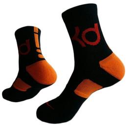 Wholesale Kd Mens - New Fashion KD elite basketball soccer sports crew high quality terry socks Mens cotton thick bottom towel Deodorant movement socks