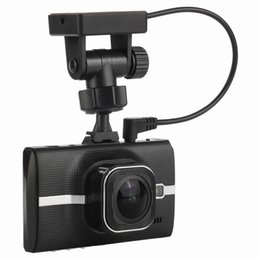 Wholesale Wdr Box Camera - Promotion Dual Lens Car DVR Camera Full HD 1080P Video Recorde Night Vision with LDWS 170 Degree Dashcam DVRs WDR Black Box
