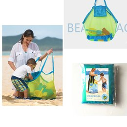Wholesale Best Baby Bags - Children Sand away Beach mesh Bag Kids Beach Toys Clothes Towel Bag baby Toys Collection Tote Organizer Storage Bag Best Quality