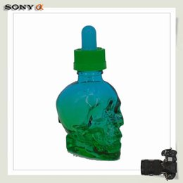 Wholesale Beautiful Perfume Bottles Wholesale - Beautiful 30 ml skull glass pipette perfume bottle Olive oil glass bottles Wholesale with and free shipping