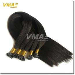Wholesale Stick Virgin Hair - I Tip Prebonded Hair Extensions 100g Per Pack Brazilian Virgin Hair Natural Straight Keratin Stick Virgin Remy Hair I Stick I Tip Extensions