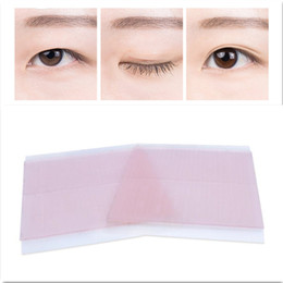 Wholesale Double Side Adhesive Eyelid Tape - Double-sided Adhesive Invisible Narrow Eyelid Tape Sticker 26Pairs Sheet