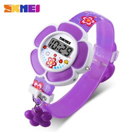 Wholesale Nude Beautiful - Watch SKMEI 2017 New Fashion Design Summer Outdoor Sports Childrens Girls LED Digital Waterproof Beautiful Wristwatches Best Gifts Lovely