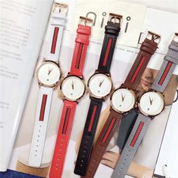 Wholesale Top High Brand Dresses - Top Brand Women Wristwatches Lady Watch Genuine Leather Female Quartz dress watches Multi Colors Relogio Masculine High-grade free shipping