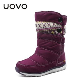 Wholesale Kids Oxford Girls - UOVO newest children boots oxford fabric kids boots mid calf girls winter shoes children shoes girls boots