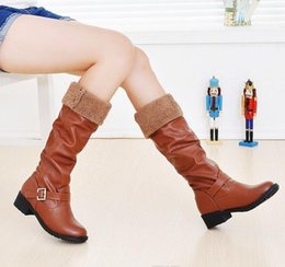 Wholesale Yellow Sexy Boots - wholesaler free shipping factory price hot seller brand name can turn down women fashion sexy long boot