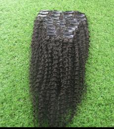 "Wholesale Natural Flower Hair Clips - The latest Cheap 6A Brazilian human hair 100% unprocessed natural black hair metamorphosis flower clip extension 10 ""--30"""