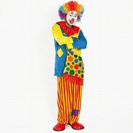 Trajes de fiesta de halloween para niños online-Disfraz de Halloween Dama Adulto Niños Payaso Disfraz Payaso Disfraz Fiesta Payaso Traje