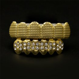 Wholesale European Pop Bracelets - Luxury Accessories 2017 Hot European and American Pop Hip-hop Style Plated Gold Braces Teeth Gold Bracelet Cool Jewelries Top Quality