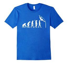 Wholesale Evolution Shorts - New Fashion Men T-shirt Evolution pole vault T-Shirt Loose Clothes Design Short Sleeve Tee Shirt
