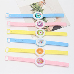 Wholesale Bug Repellent Wristband - Anti Mosquito Bug Repellent Watch Bracelet Anti-mosquito Pure Natural Baby Wristband Watches Hand Ring Cute Designs Bracelets Wrist Band Hot