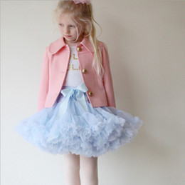 Wholesale Dance Blouses - 0-10T Baby Girls Tutu Skirts Bow Gauze Fluffy Pettiskirts Tutu Princess Party Skirts Ballet Dance Wear 28 Colors High Quality