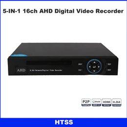 Wholesale 16 Channel Hybrid Dvr - 16ch 1080N Hybrid 5-in-1 AHD DVR (1080P NVR+1080N AHD+960H Analog +TVI+CVI) CCTV 16 channel Standalone HDMI output Quick QR Code Scan