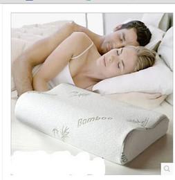 Wholesale Wholesale Bamboo Pillows - Wholesale- 30x50 Bamboo Fiber Slow Rebound Memory Foam Pillow Cervical Health Care ESY1