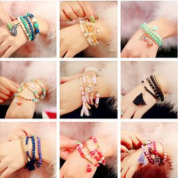 Wholesale Pearl Bracelet South Korea - girl jewelry Japan and South Korea women's Stretch Bracelet simple sweet all-match multi pearl jewelry bracelet students multi elements