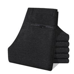 Wholesale Mens Office Wear - Wholesale-Autumn Winter Twill Cotton Flat Office Work Wear Gentleman Men Suit Pants Mens Cargo Business Trousers Men's Dress Pant calcas