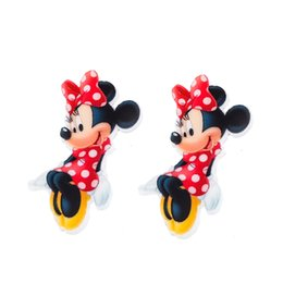 Wholesale Cabochons Kids - Cartoon Polka Dots Hair Bow Minnie Mouse Planar Resin Cabochons Flatback Resin Craft DIY Kids Girls Party Jewelry Decoden Accessories