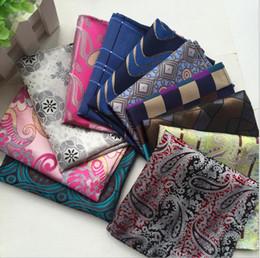 Wholesale Silk Handkerchief Ties - 160 Stelys Men Pocket Square Handkerchiefs Wedding Party Fashion Accessories Paisley Silk Suit Tie Handmade Handkerchief Stripes Plaids Dots