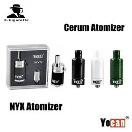 Wholesale Wax Dry Herbs Atomizer - 100% Authentic Yocan NYX Vapor Atomizers Dry Herb Wax Vaporizer Quartz Dual Coil Bottom Airflow Control