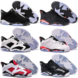 Wholesale J6 Retro - Wholesale Retro 6 Low Basketball Shoes Men 2016 Retro VI Boots High Quality Sneakers Cheap J6 Men's Sports Shoes Free Shipping 8-13