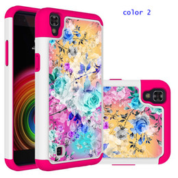 Wholesale Wholesale Cell Phone Products - Painting Sticker Cases For ZTE N9560 Alcatel Walters A30 LG Aristo2 Silicone+ PC Dirt-resistant Shockproof Cell Phone Case Hot sale products
