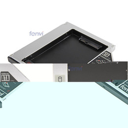 """Wholesale Hard Driver Sata - Wholesale- Fenvi New 2nd HDD caddy SuperDrive 2.5"""" Hard Disk Driver Case Enclosure Replacement 9.5mm SATA Optical Bay"""